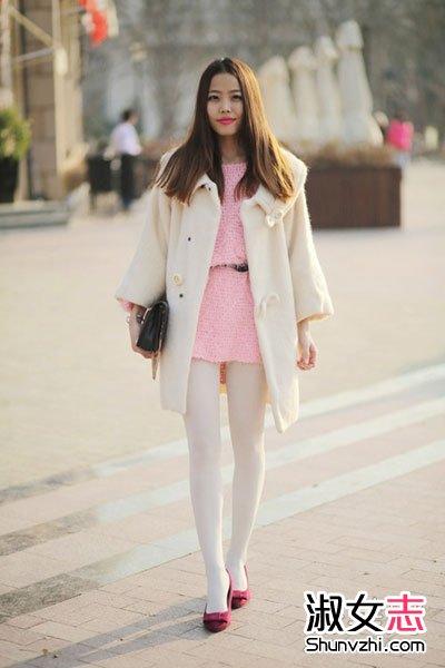 清新 范儿/米白色呢子大衣,简约风格,素雅清新,透着大方知性的味道,内...