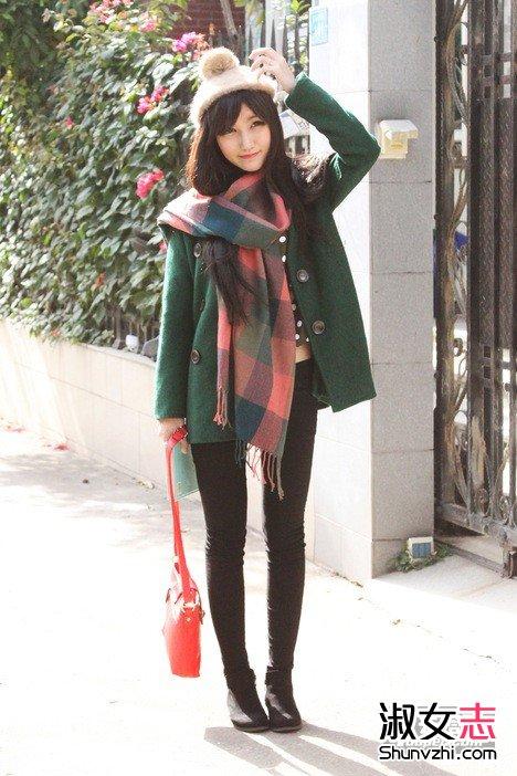 矮个子+优雅+美丽 冬天保暖穿搭(4)图片