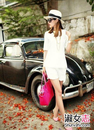 夏天时髦OL女人的通勤装搭配