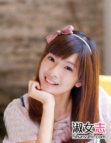 清纯校园妹子发型齐刘海中长发