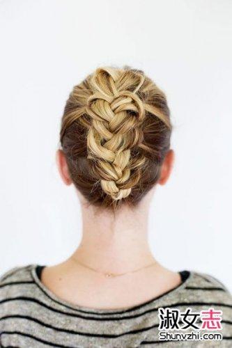 反转编织发型 法兰西少女风编发图片
