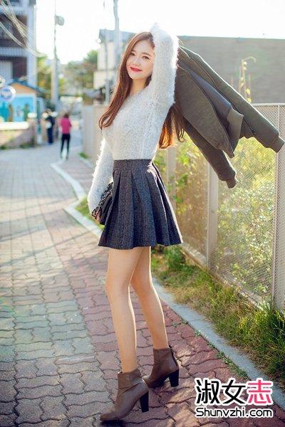 冬季短裙搭配毛衣淑女气质(2)_冬季服装_淑女志