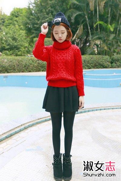 修身设计,精致小巧的版型,上身显瘦可爱,尤其是大红色,冬季非常流行.