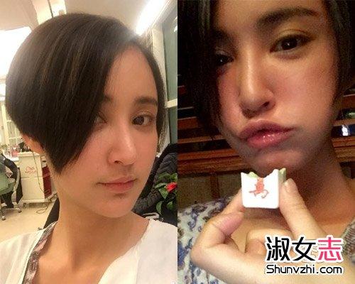 短发美女明星发型图片 中韩女星短发pk图片