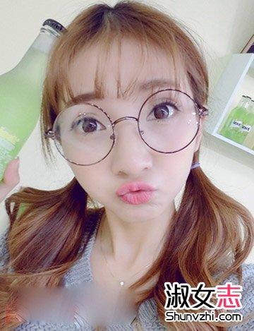 非主流女生戴眼镜发型大全