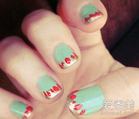 指甲短怎么做美甲 夏季短指甲美甲图图片