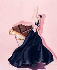 Angelababy粉色写真充满着甜蜜感