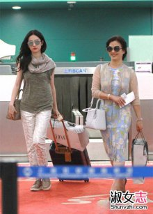 女明星喜欢的大牌包 刘亦菲的包包和鞋子
