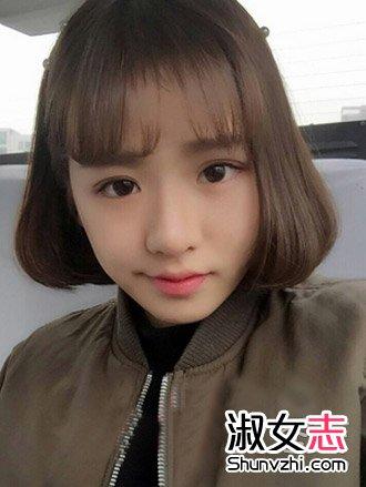 校园美女空气刘海短发设计图片(4)