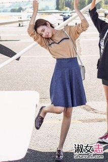 2015秋季韩国女人混搭出街简洁休闲