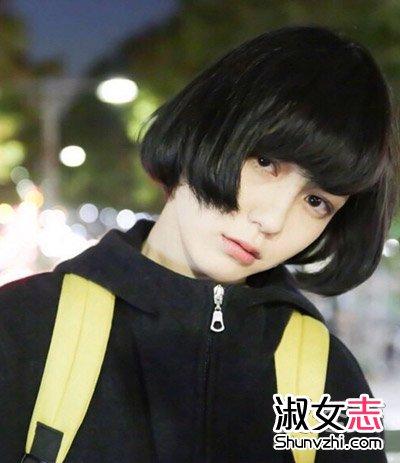 齐耳短发发型图片2015女 女学生齐耳短发发型图片