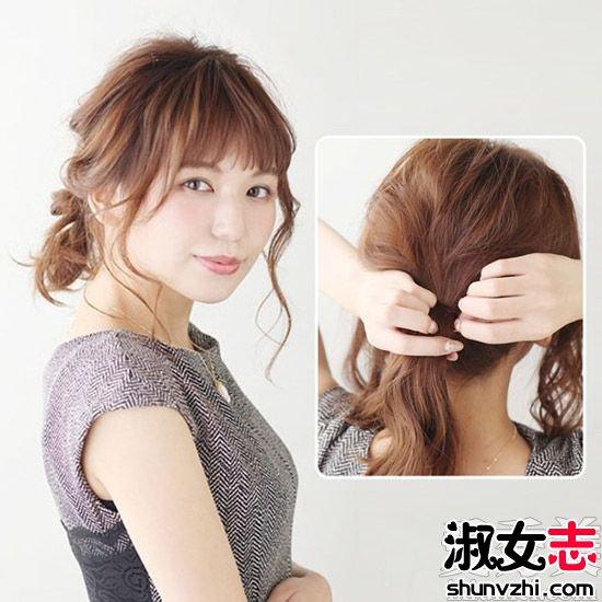 中长发盘发发型扎法步骤教程(3_发型设计