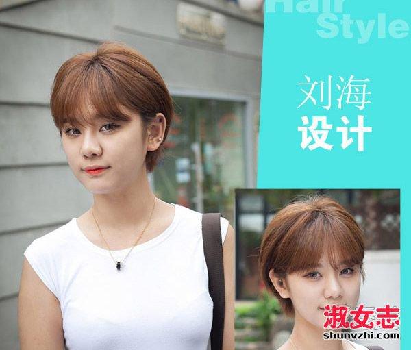 空气刘海圆脸短发卷发分享展示
