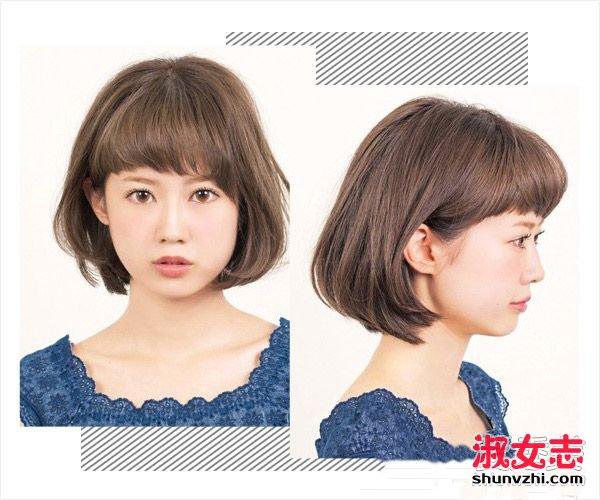发型与脸型搭配:圆脸方脸拒绝呆板齐刘海 不同脸型适合的刘海