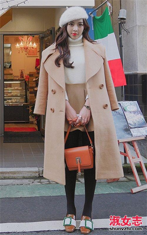 驼色大衣怎么搭配 驼色大衣的搭配 驼色大衣搭配图片