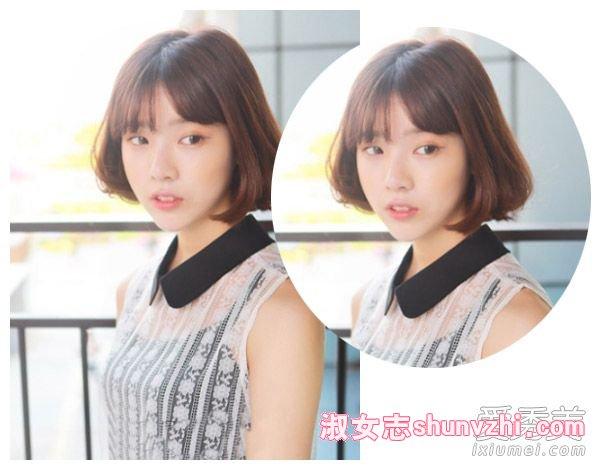 2016年圆脸女生流行什么发型和刘海图片
