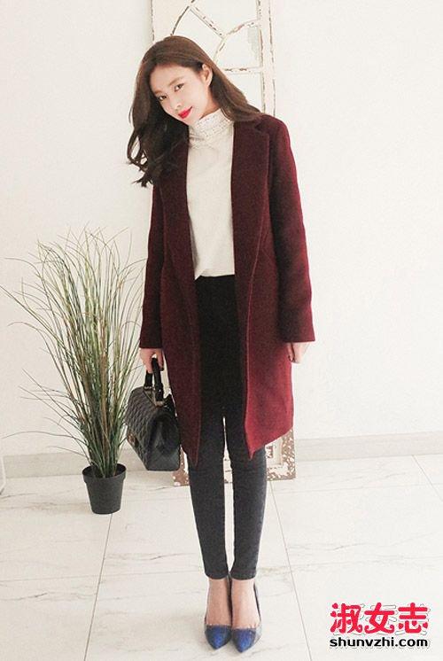 韩国冬季大衣街拍 比画报还唯美 韩版大衣搭配