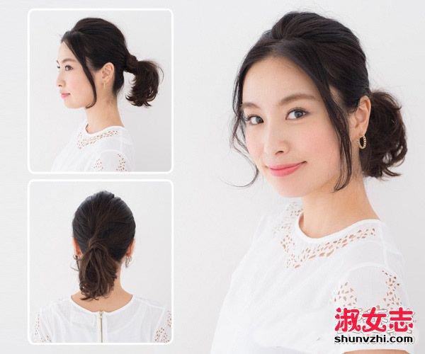 长刘海怎么扎好看 90后MM最爱的两款扎发 刘海发型扎法