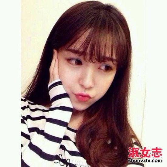 网红最爱的空气感刘海发型盘点图片