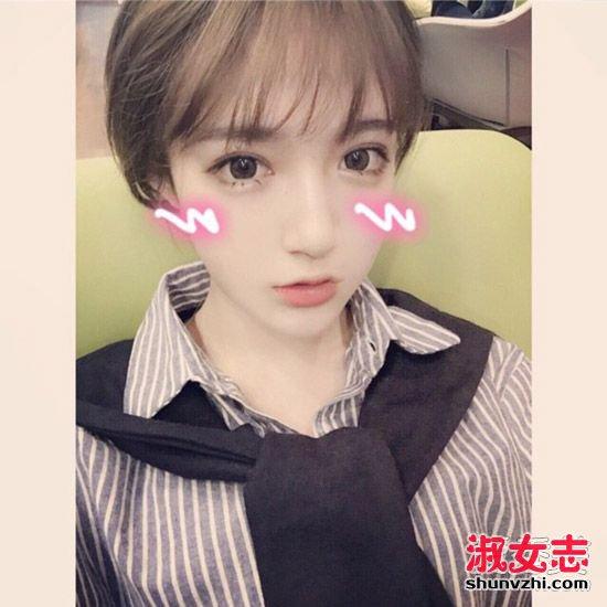 网红最爱的空气感刘海发型盘点 2