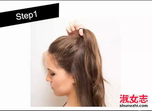 刘诗诗最新半丸子头扎法图解 刘诗诗最新发型怎么扎