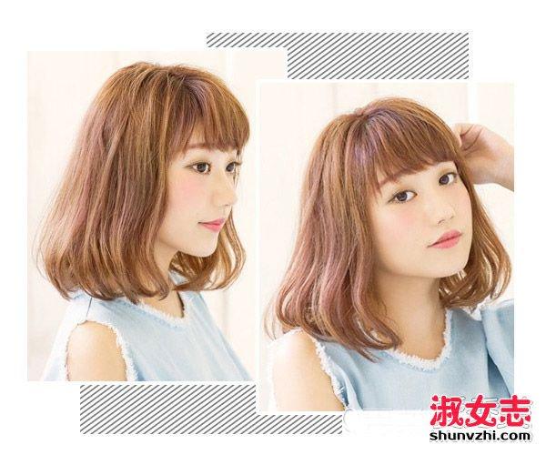 发型 流行发型    这款偏棕灰的亚麻色是当季的大热发色之一,暗哑的