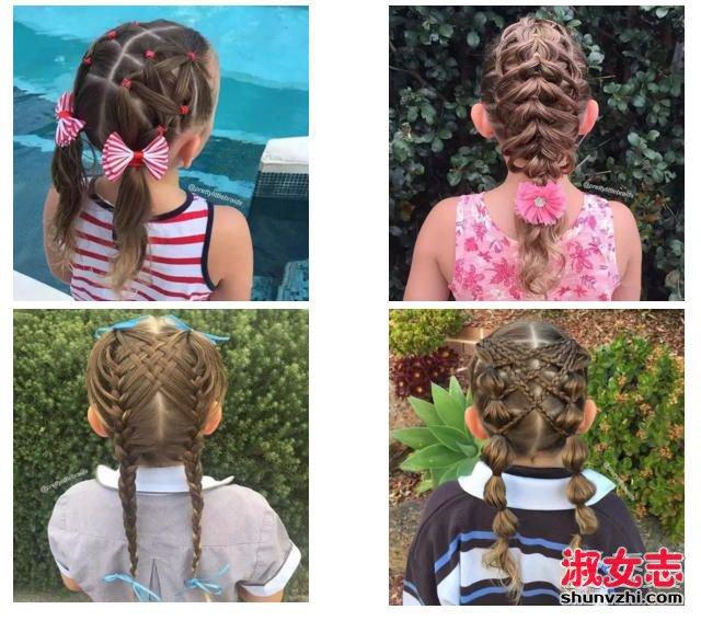 1小女孩辫子编发大全 小女孩发型扎法