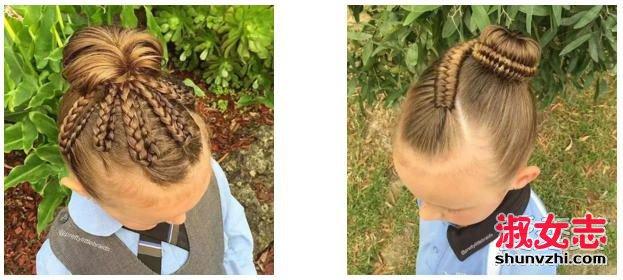 编发汇总:六一儿童节小女孩发型绑扎方法 小女孩发型扎法