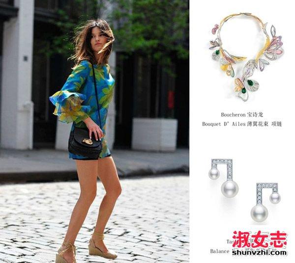 夏天印花配珠宝 撩人又时髦 夏季珠宝搭配