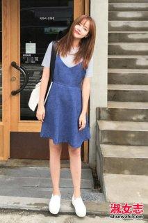 夏季街拍女生裙装搭配少女感十足