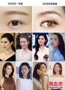 流星眉怎么画 流星眉适合什么脸型 女明星们的流星眉