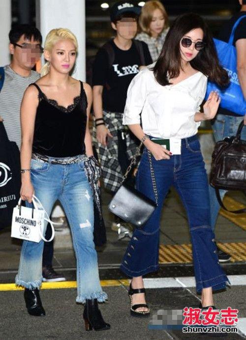 韩国女星早秋街拍 示范超实用的换季搭配 韩国明星秋季街拍