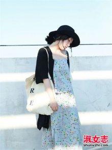 秋季街拍女生针织开衫搭配温柔气质