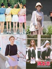 女大学生秋季校园穿衣搭配小清新风