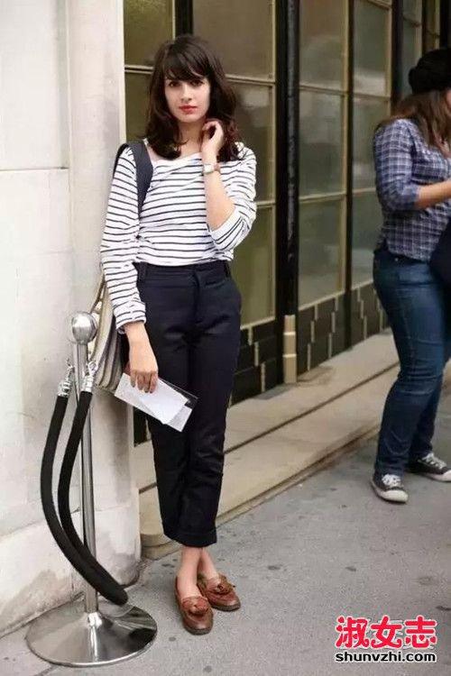 秋季乐福鞋搭配街拍 时尚与舒适的鞋履 2图片