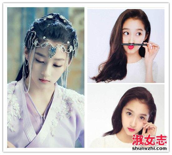 迪丽热巴杨紫领衔 网选十大90后最美女星发型PK 90后最美女明星