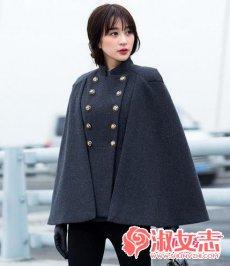 女人双排扣大衣OR羽绒服搭配很显气质