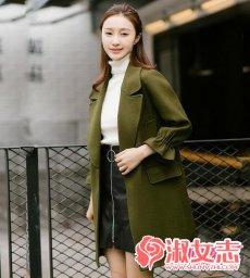 冬季淑女风气质的毛呢外套搭配示范