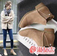 冬季流行靴子之英伦风靴子