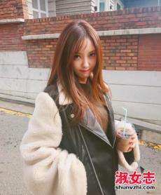 韩国冬季街拍超长袖子女装搭配