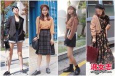 韩国首尔街拍 冬季韩国女人穿衣搭配