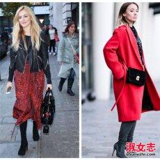 冬季女装搭配黑加红 让冬季更出彩