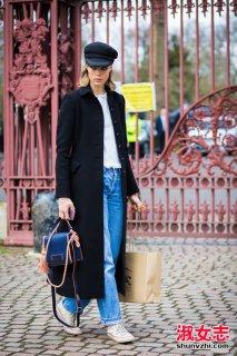 冬季超长款大衣搭配什么裤子和鞋子