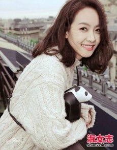 宋茜冬季换新发型 空气刘海刘海显甜美