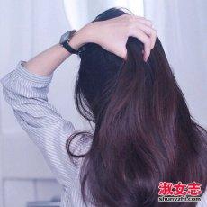 冬季女生护发正确步骤 别用热水洗头?