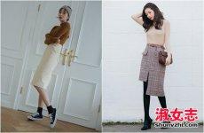 冬季裙子怎么搭配出好的身材比例