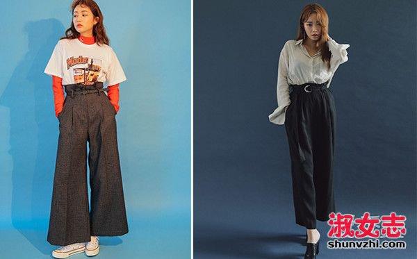 过瘦的人:打折或花苞设计的裤头