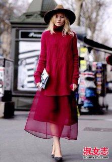 冬季毛衣和裙子怎么搭配更保暖