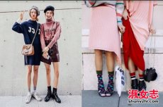 裤袜控女生要看 春季裤袜和鞋子搭配