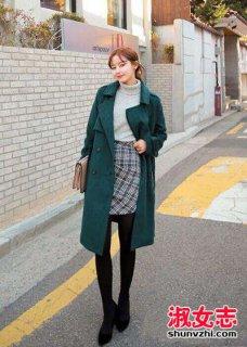 女人高领针织衫搭配 日常时尚穿搭